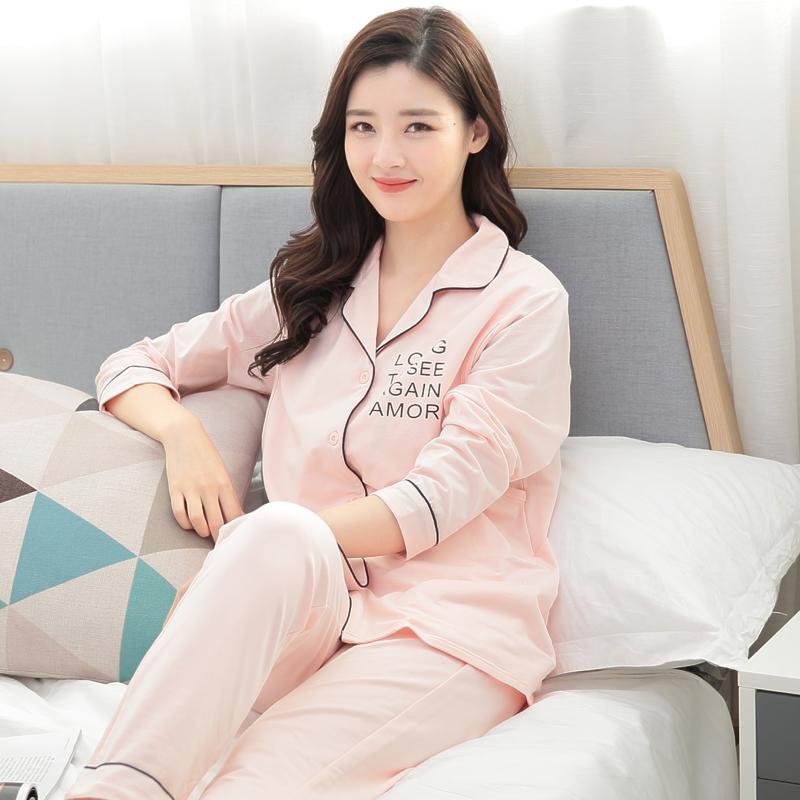 纯棉月子服孕妇哺乳睡衣