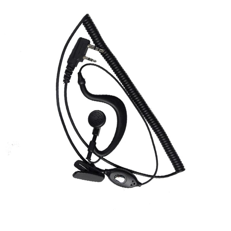 豪艺对讲机耳机(耳挂式) 建伍头 带耳麦 对讲机配件 国产通用