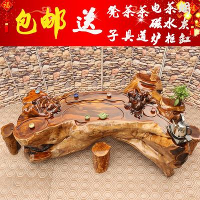 根雕茶几鸡翅木根雕茶桌整体茶台功夫茶几实木树根茶几茶海现货