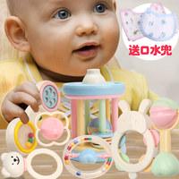谷雨婴儿摇铃玩具新生儿宝宝益智婴幼儿0-3个月1岁6-12婴幼儿牙胶