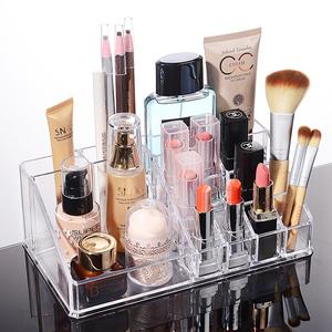 水晶透明桌面化妆品收纳盒