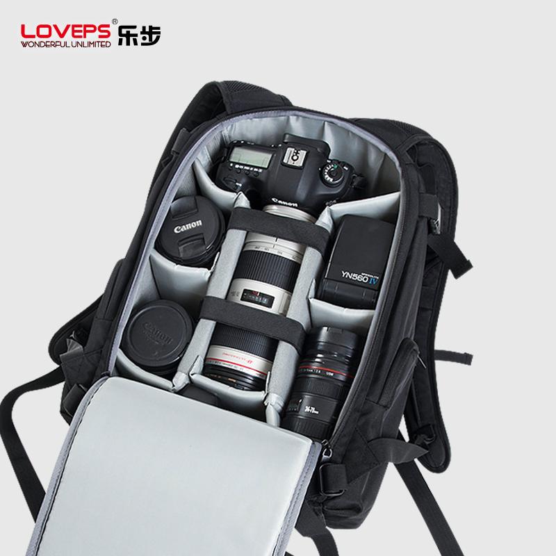 LOVEPS专业单反相机包佳能摄影包双肩包尼康防水大容量旅行背包