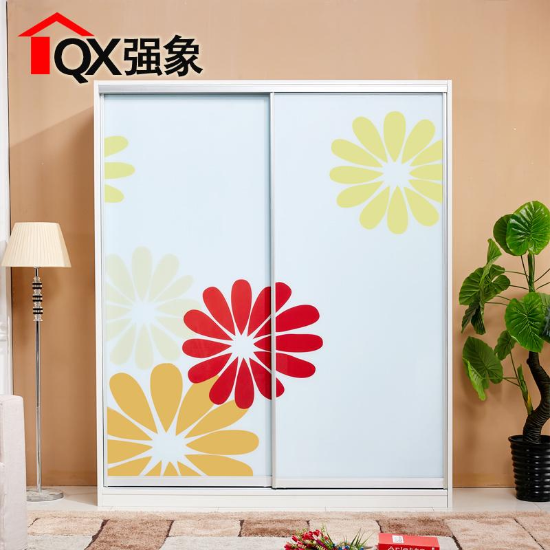 强象艺术玻璃门衣柜推拉门b017