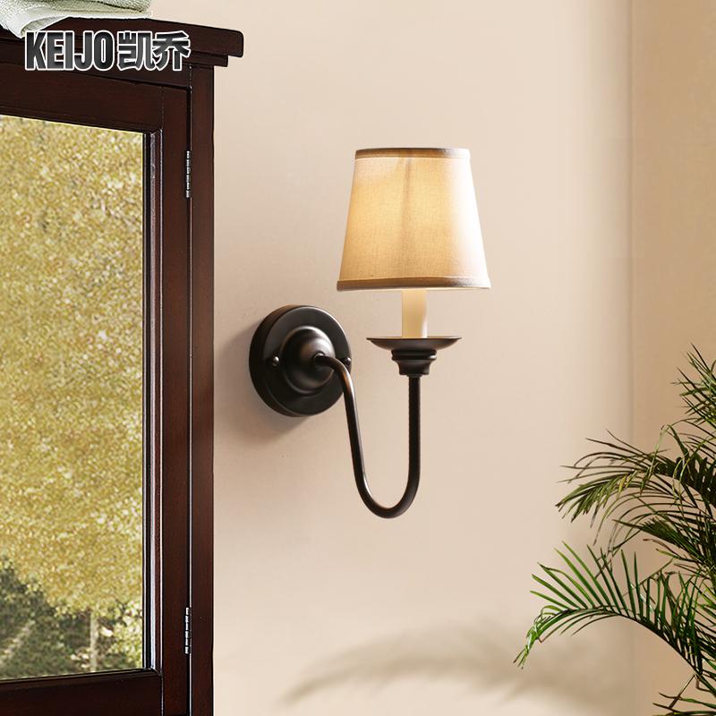 凯乔美式风格铁艺床头壁灯YB900-1