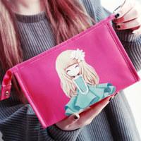 韩国可爱大容量化妆包女包防水手拿化妆品收纳包洗漱包手抓包小号