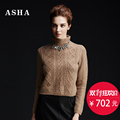 ASHA loved shirt fall winter 2016 new pure mountain thickening twist female half Turtleneck cashmere sweater Turtleneck sweaters