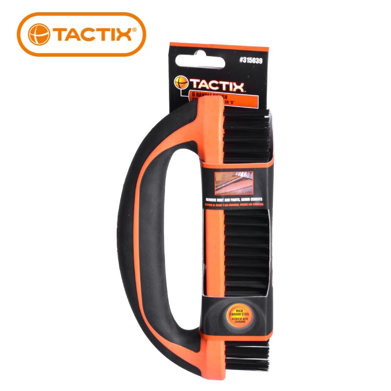 TACTIX钢丝刷d型柄刷子除漆除锈315039