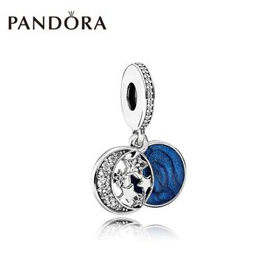 PANDORA潘多拉复古夜空银串饰串珠791993CZ星空手链时尚吊坠
