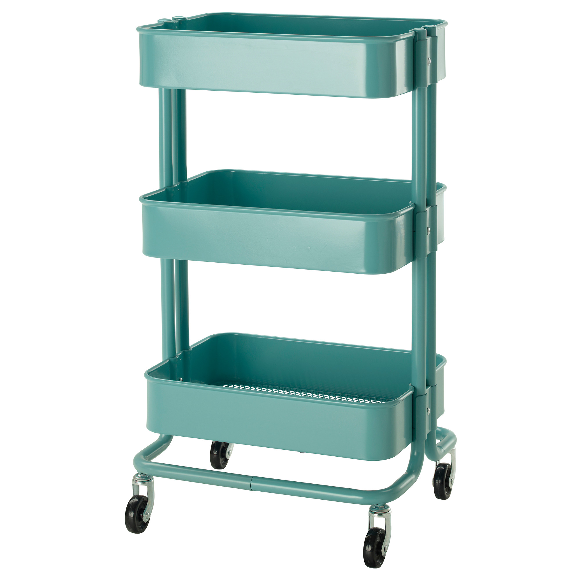 IKEA IKEA Lasker Kitchen cart black / sky blue / beige kitchen ...