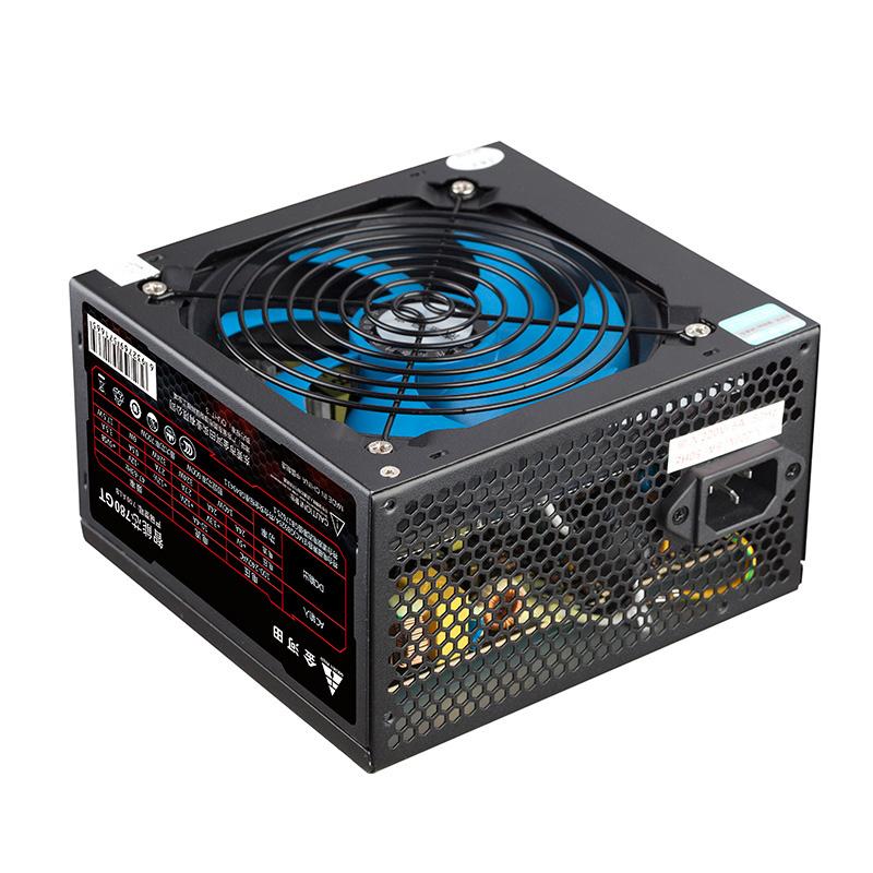 金河田智能芯780GT电脑主机箱电源台式机额定600W游戏竞技背线