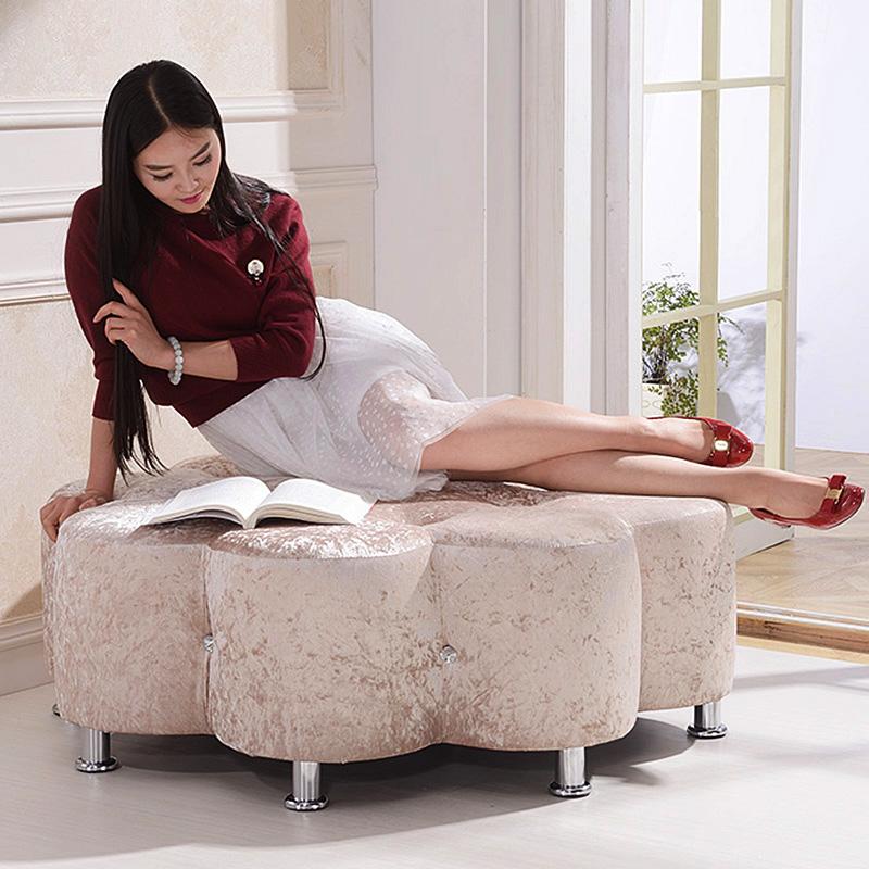御唐轩欧式弧形大花水晶凳DH258