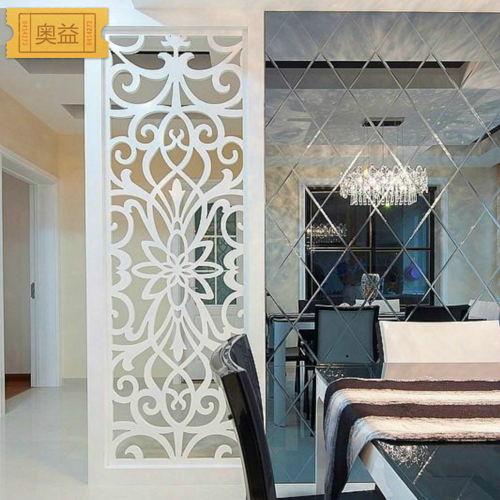 Carved hollow slab porch screen partition wall plate TV wall ceiling flower wave Board MDF grille - English Taobao - Cheaper Chi