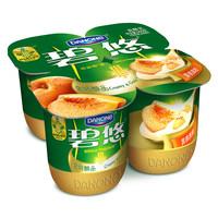 【天猫超市】达能碧悠醇品时刻黄桃果粒发酵乳4连杯16点截单冷藏