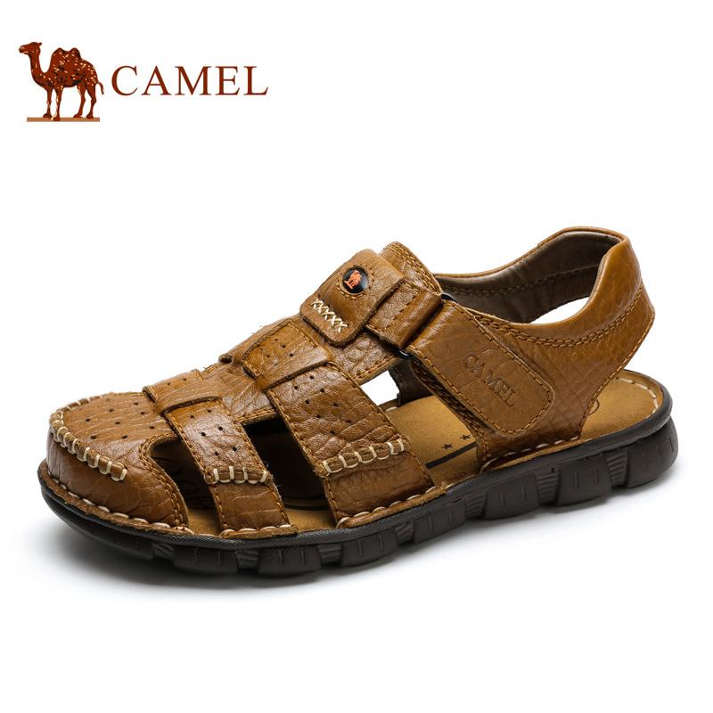 Camel骆驼男鞋夏季凉鞋 日常休闲男士凉鞋包头沙滩鞋男