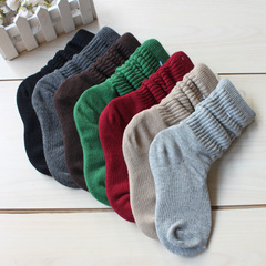 2017,春秋,新品,儿童袜,韩版,纯色,儿童,中筒袜,运动袜,纯棉,袜子,棕色