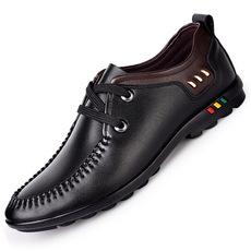 2017男士休闲皮鞋韩版系带温州鞋子