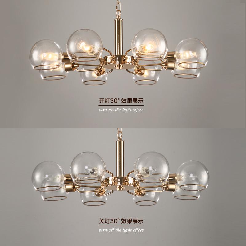 【满800减400】奥朵水晶玻璃吊灯客厅灯 卧室餐厅吊灯灯具30831MM产品展示图4