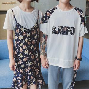 实拍6102#新款吊带连衣裙台湾情侣装(单套价格)