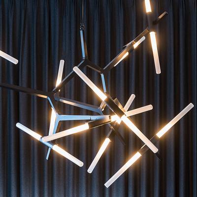 led餐厅灯客厅简约现代吊灯 设计师创意个性卧室艺术树枝北欧灯具
