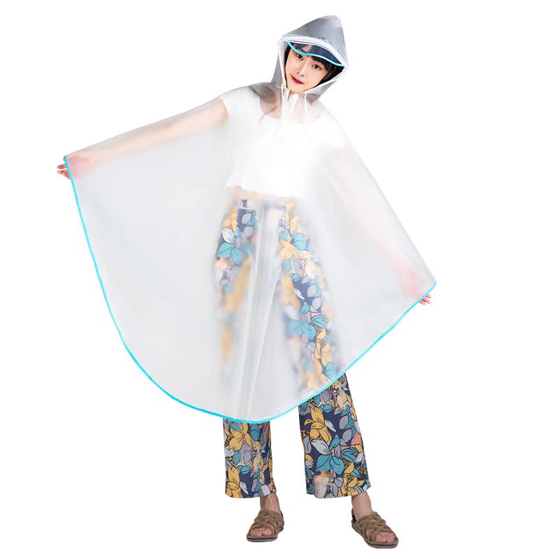 雨衣成人骑行韩国时尚透明雨衣电瓶车男女雨披电动自行车女士单车