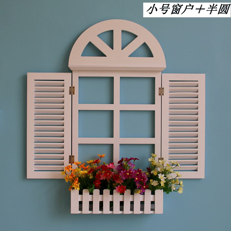 home decoration european flower window hanging wood
