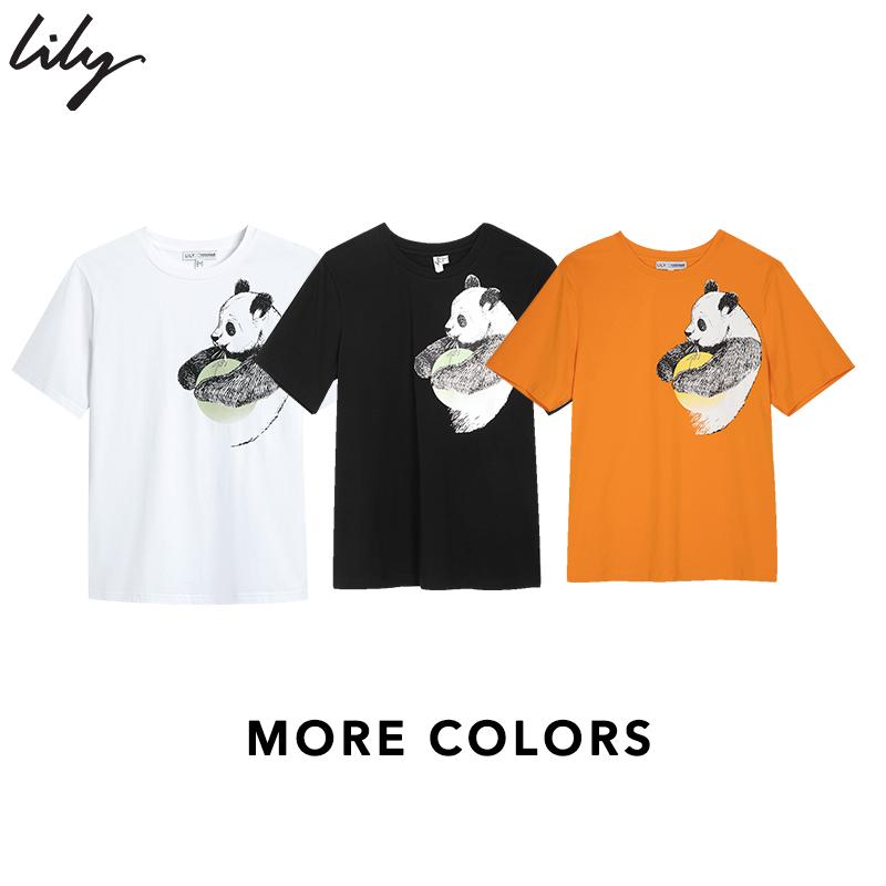 【宋轶同款】夏季新款熊猫印花T恤