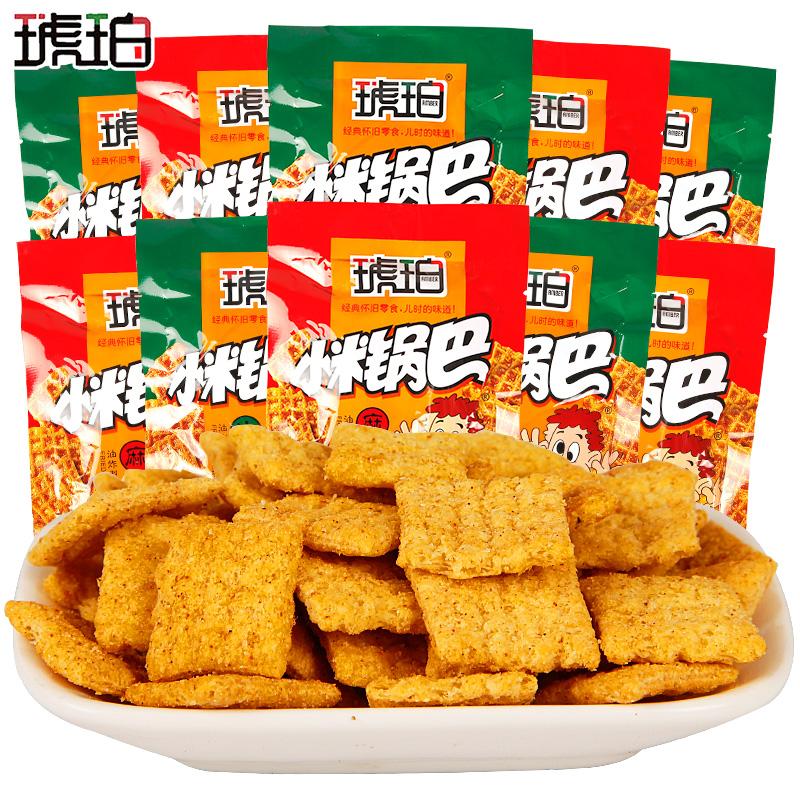 琥珀 麻辣/牛肉味小米锅巴 25g*20包