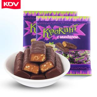 俄罗斯糖果进口紫皮糖kpokaht巧克力糖果圣诞节零食品喜糖散装kdv