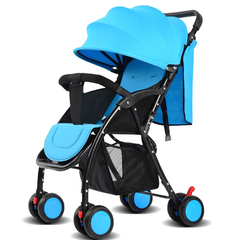 婴儿推车高景观婴儿车推车可坐可躺轻便折叠四轮宝宝避震手推车