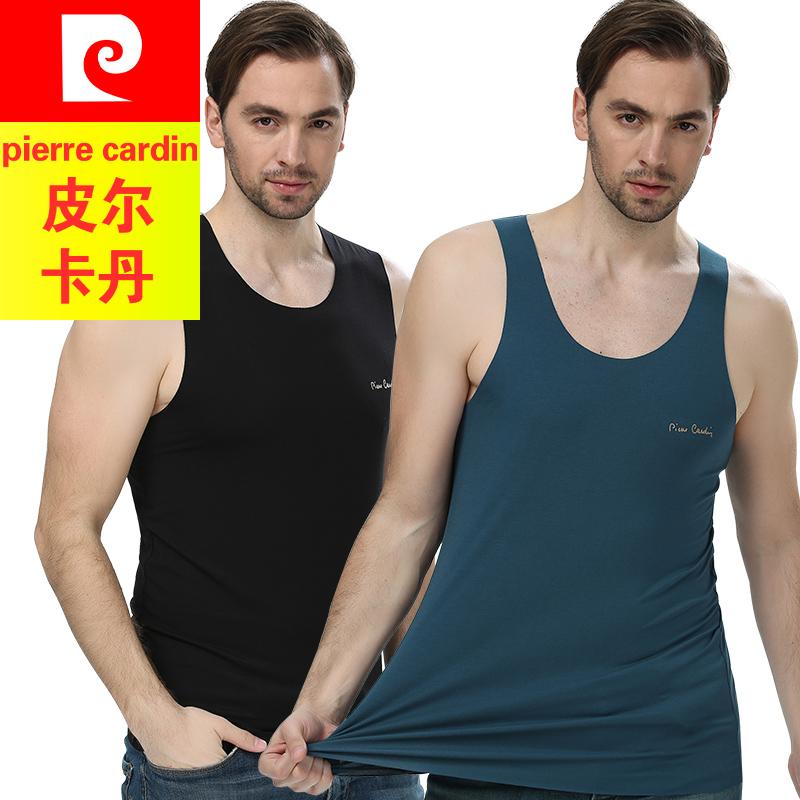 男士背心莫代尔皮尔卡丹运动健身跨栏无袖工字吊带内衣无痕T恤男