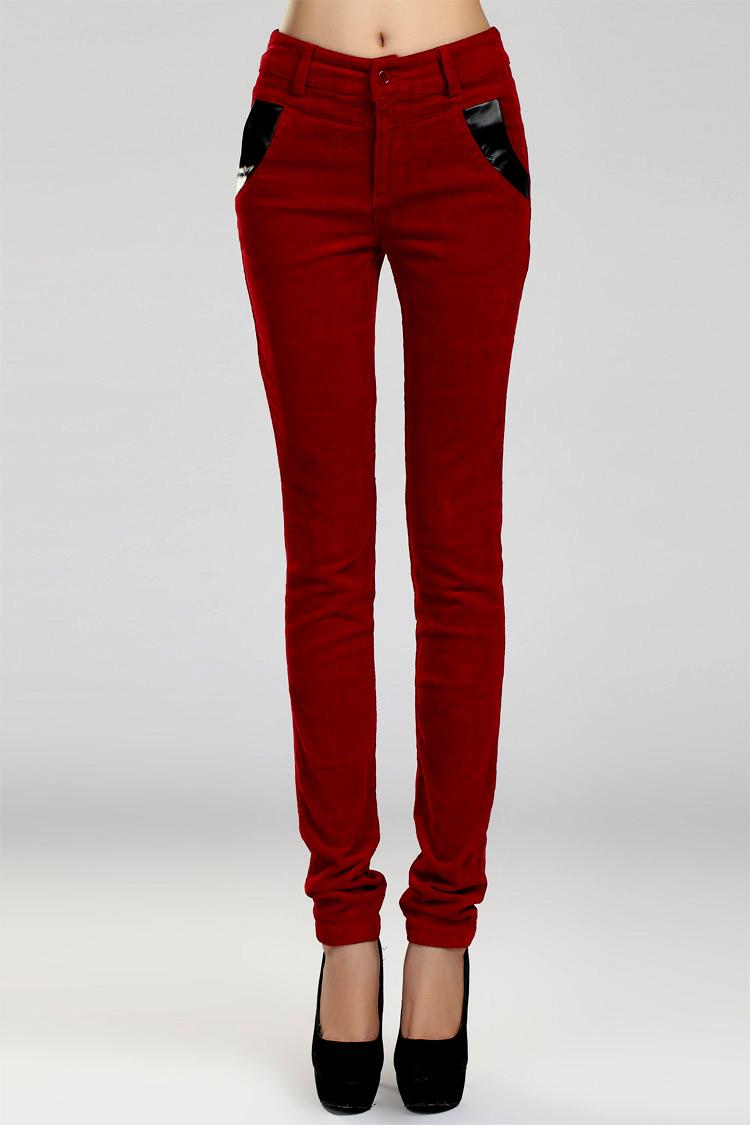 细条绒女裤小脚裤显瘦