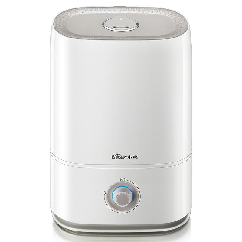 小熊加湿器家用静音办公室卧室空调房空气净化大容量小型香薰喷雾