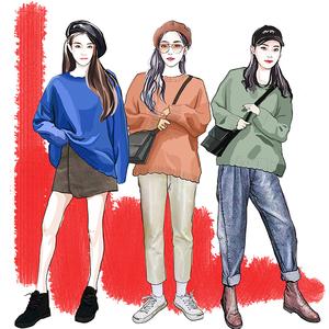 2018新款秋装薄款韩版...