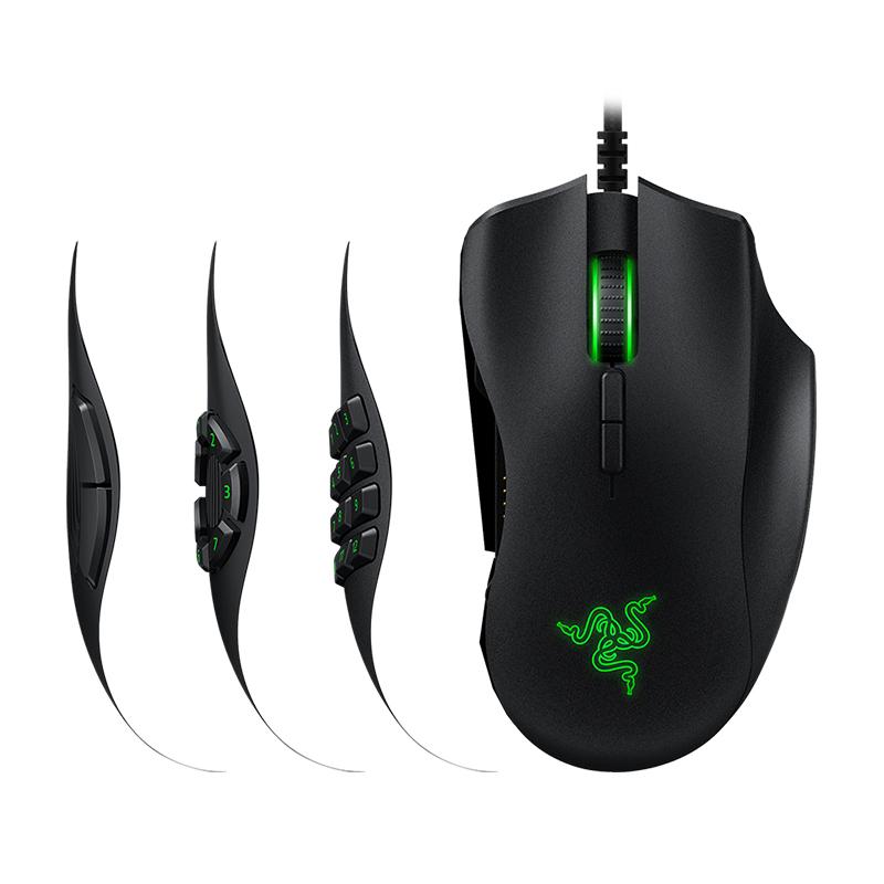 Razer-雷蛇那伽梵蛇进化版 六芒星V2有线MMO电竞游戏鼠标RGB编程