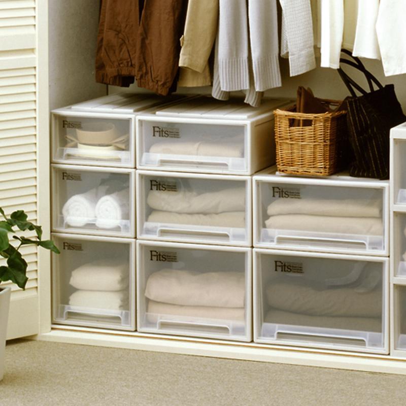 简易衣柜抽屉式收纳柜收纳箱收纳盒家用多层加厚塑料带轮储物架子 爱