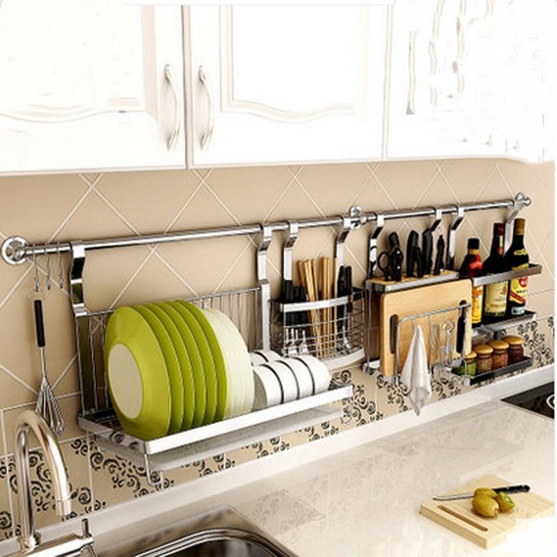新款风不锈钢厨房置物架挂架