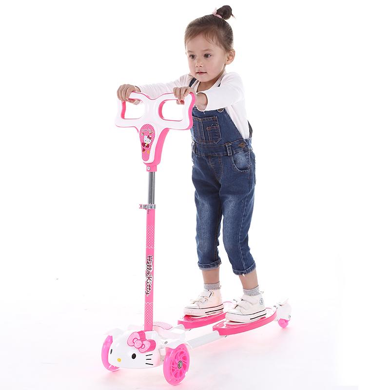 儿童滑板车蛙式三轮四轮2-3-6岁摇摆车宝宝滑滑车剪刀车踏板车车