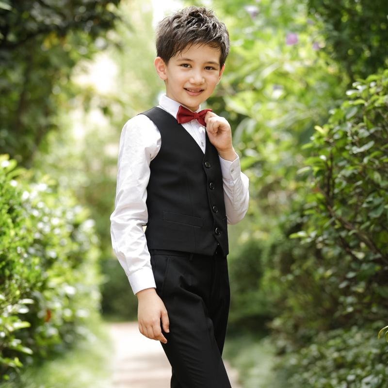 男童礼服马甲套装花童男孩主持人儿童西装钢琴表演演出服装小西服