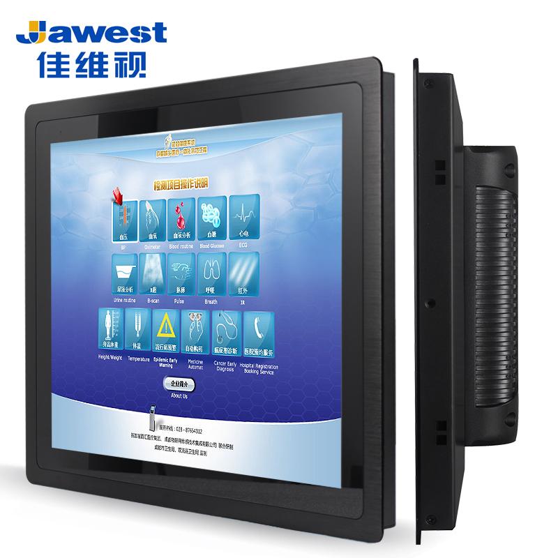 佳维视10-12-15-21.5嵌入式工业显示器 定制电阻电容工控显示屏