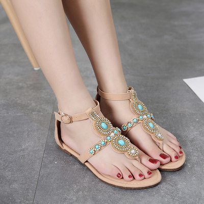 New arrival women sandals fashion flip flops flat shoes caus...