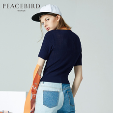 Knitted wear PEACEBIRD awee72250 2017 Polo