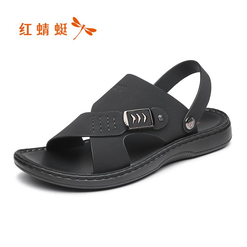 红蜻蜓凉鞋2018年夏季新款沙滩鞋时尚休闲凉鞋韩版潮流两用凉拖鞋