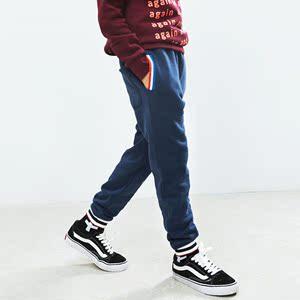 那森儿秋冬新款加绒纯棉裤童装男童运动裤中大童收脚休闲裤保暖裤