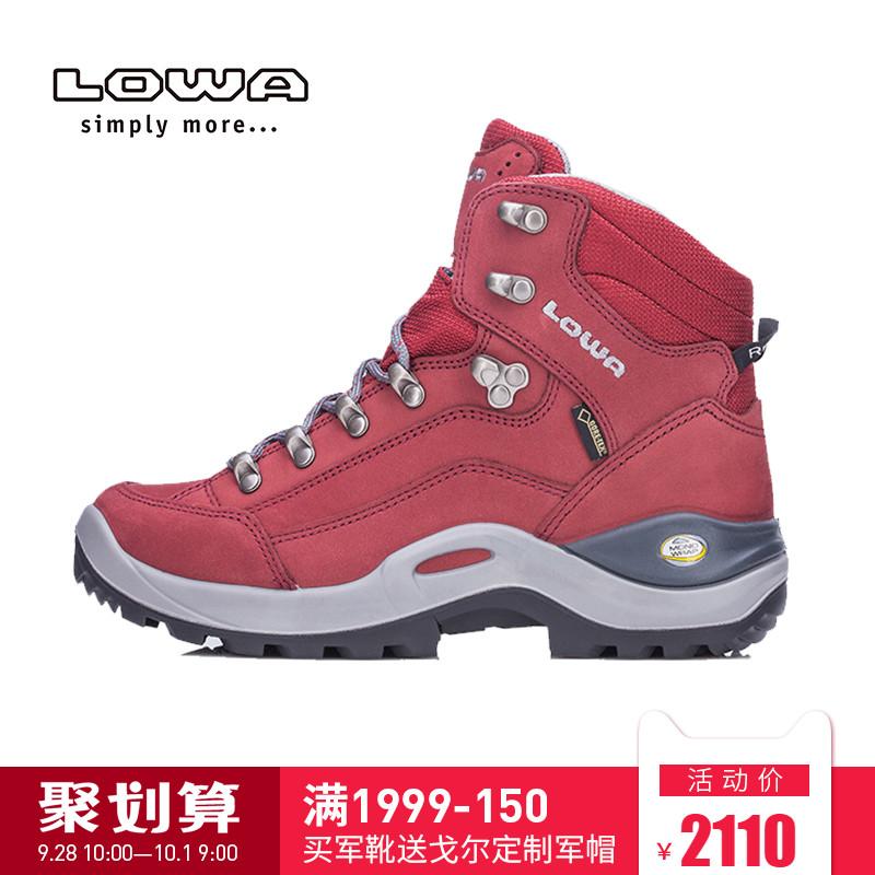 LOWA爆款户外防水登山鞋RENEGADE GTX E女式中帮鞋L520952 026