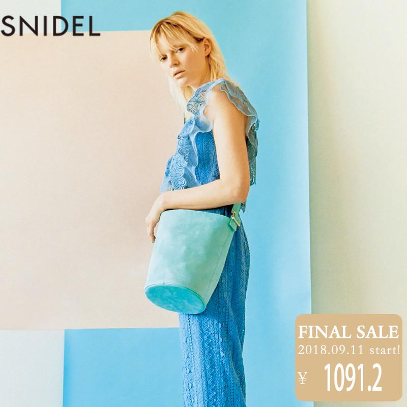 SNIDEL2018新品 花边肩带休闲连体阔腿裤 SWFO181066