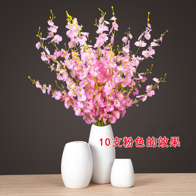 Dance Orchid Simulation Bouquet Plastic Decorating Fantasy Butterfly ...