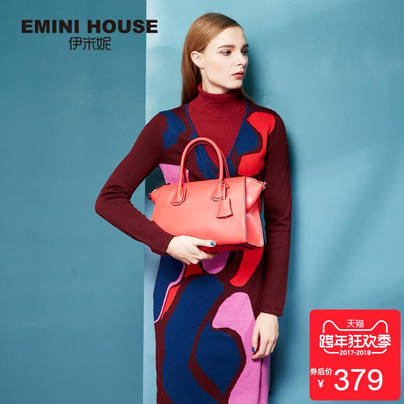 伊米妮女包手提包新款时尚简约女士单肩斜挎包秋季大容量包包女特