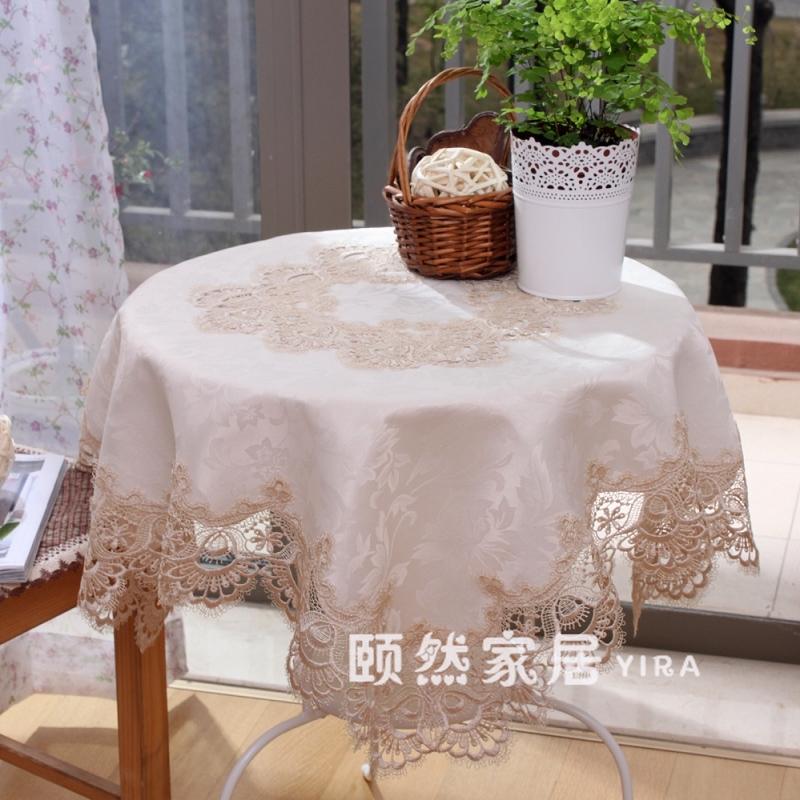 颐然布艺蕾丝田园欧式茶几布1224