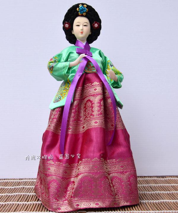 Декоративные украшения Должность заполнена Корейский-корейские народные куклы Кукла украшения juanren в Южной Корее интерьера Подарки и ремесла