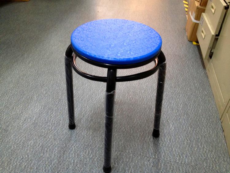 Складной табурет Удобный стали двойное кольцо табуретки стулья/скамейки/дома/обеденная скамейке/табурет скамейке/раунд пластиковый стул
